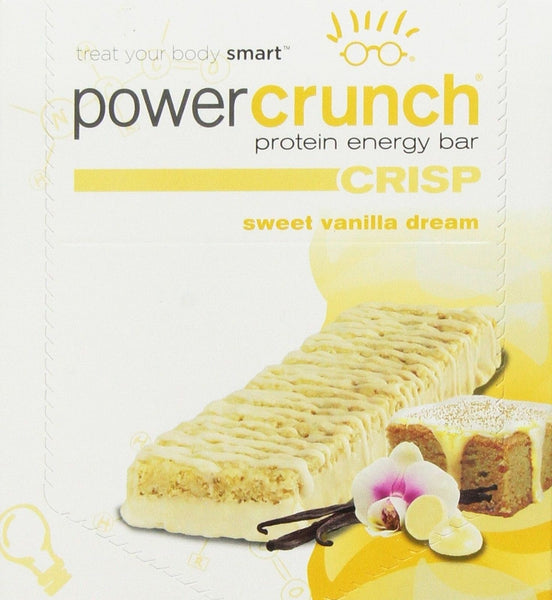 BNRG Power Crunch Crisp Sweet Vanilla Dream - 12 pack (1.5 oz)Bars ...
