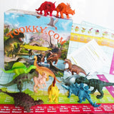 TOOKKY 12 Pieces Dinosaurs Toys (5-7 Inches) with Trivia Dinosaur Games Board... - Chickadee Solutions - 1