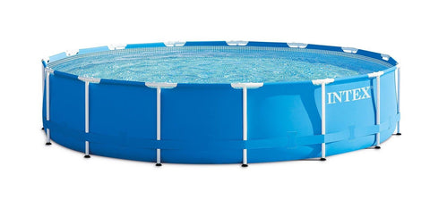 15 Foot x 33 Inch Intex Metal Frame Round Above Ground Swimming Pool - 28221EH - Chickadee Solutions - 1