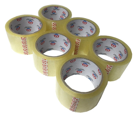"6 Rolls Heavy Duty 5 Mil. Thickness Packing Tape. 2 1/4"" X 55 yds. - Chickadee Solutions - 1"
