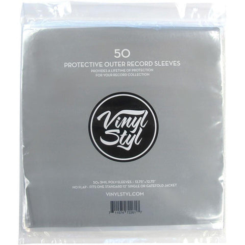 Vinyl Styl 72261 Protective Outer Record Sleeves 50 Pack