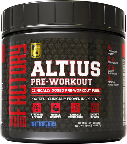 ALTIUS Pre-Workout Supplement - Naturally Sweetened - Clinically Dosed Powerh... - Chickadee Solutions - 1