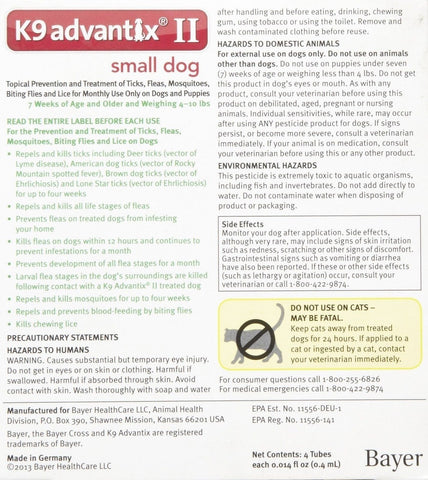 K Advantix Ii Small Dog  Pack