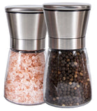 Q's Inn Salt and Pepper Grinder Set - [Lifetime Warranty] Brushed Stainless S... - Chickadee Solutions - 1