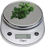 Ozeri Pronto Digital Multifunction Kitchen and Food Scale Elegant Chrome Silver - Chickadee Solutions - 1