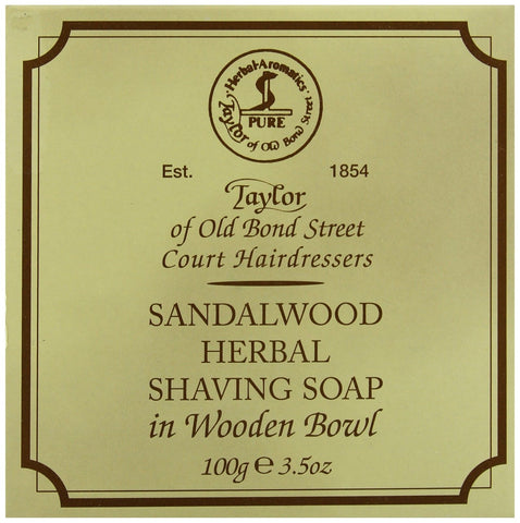 Taylor of Old Bond Street Sandalwood Shaving Soap in a Wooden Bowl 3.5 oz. 1 - Chickadee Solutions - 1