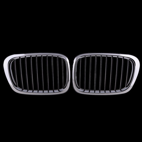 1 Pair Front Kidney Grille Grill for BMW E39 525 528 530 535 M5 1997-2003 Chr... - Chickadee Solutions - 1