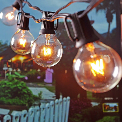 Patio Lights G40 Globe Party String Lights Outdoor Lighting For Garden Party