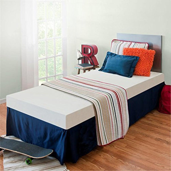 sleep master memory foam 5 inch youth bunk bed trundle bed