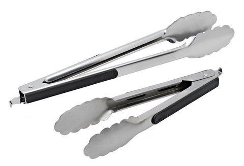 Stainless Steel Kitchen Tongs Set of 2 (9 inch & 12 inch) Salad Serving & Gri... - Chickadee Solutions - 1
