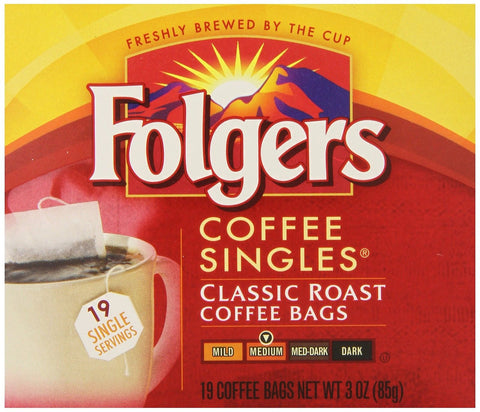 Folgers Classic Medium Roast Coffee Singles Serve Bags 114 Count 2550081121 - Chickadee Solutions - 1