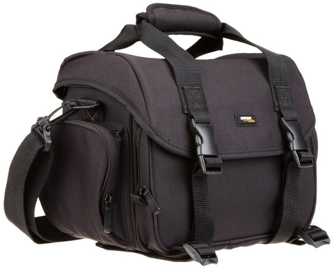 AmazonBasics Large DSLR Gadget Bag (Orange interior) Orange Interior - Chickadee Solutions - 1