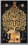 Elephant Tree Tapestry Good Luck White Elephant Tapestry Hippie Gypsy Wall H... - Chickadee Solutions - 1