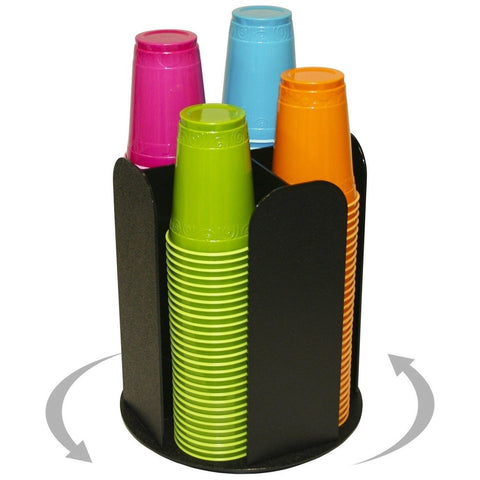"4 Columns for Cup Dispensing and Lid Holder That Spins. Holds Upto 4 1/4"" Cof... - Chickadee Solutions - 1"