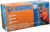 Ammex GWON Gloveworks Orange Nitrile Glove Latex Free Disposable Powder Free ... - Chickadee Solutions - 1