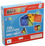 MagWorld Toys Rainbow Magnetic Construction Set (14 Piece) - Chickadee Solutions - 1