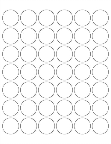 "1-1/4"" White Round Labels for Laser & Inkjet Printers 