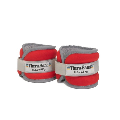 Thera-band Comfort Fit Ankle/Wrist Cuff Weights Set of 2 Red 1-Pound TheraBand - Chickadee Solutions