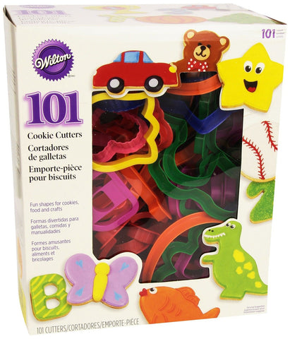Wilton 2304-1104 101 Piece Cookie Cutter Set Multicolored 3.5 inches - Chickadee Solutions - 1
