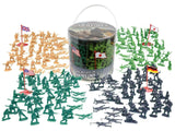 Army Men Action Figures -soldiers of WWII- Big Bucket of Army Soldiers - Over... - Chickadee Solutions - 1