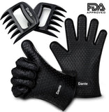 Dante Bear Claw Meat Claws Shredder Handlers Forks + Silicone Gloves(1 Bear C... - Chickadee Solutions - 1