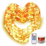 OrgMemory Copper LED String Lights (80 Ft 240 Leds Warm White UL Certified Po... - Chickadee Solutions - 1