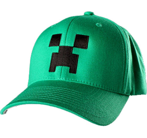 Minecraft Creeper Flexfit Hat Kelly Green L/XL - Chickadee Solutions