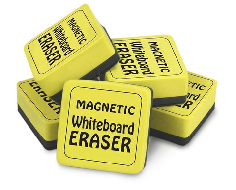 The Classics Magnetic Whiteboard Dry Erasers (12) 2 x 2 Inches 12 Pack Yellow... - Chickadee Solutions