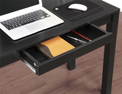 Altra Parsons Study Desk with Drawer Black Finish Altra Furniture - Chickadee Solutions - 1