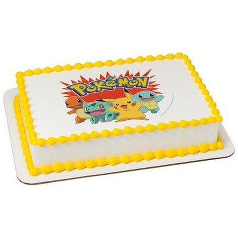 Pokemon - Bring It On! Edible Icing Image (6 Inch Round) 6 Inch Round - Chickadee Solutions