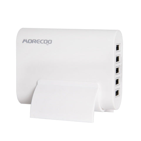 Morecoo 50W/10A 5-Port Universal USB Desktop Charger with SmartID TechnologyM... - Chickadee Solutions - 1