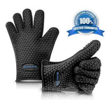 *Premium Quality* BBQ Grill Gloves Heat Resistant Protection Silicone Gloves ... - Chickadee Solutions - 1