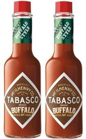 "2 Pack: ""New"" McIlhenny's Tabasco Brand Buffalo Style Hot Sauce - 5 Oz. - Chickadee Solutions"