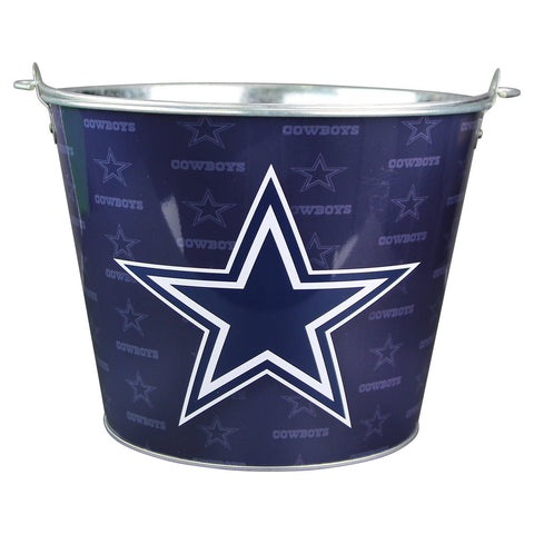 NFL Full Color Team Logo Aluminum Beer Bucket Cowboys - Chickadee Solutions - 1
