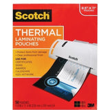 "Scotch Letter-Size Thermal Laminating Pouches 3mm 11.5"" x 9"" 50-Pack Moistur... - Chickadee Solutions - 1"