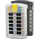 Blue Sea 5029 ST Blade Fuse Block w/Cover - 12 Circuit w/out Negative Bus - Chickadee Solutions
