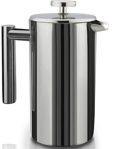SterlingPro Double Wall Stainless Steel French Coffee Press 1 Liter 1L - Chickadee Solutions - 1