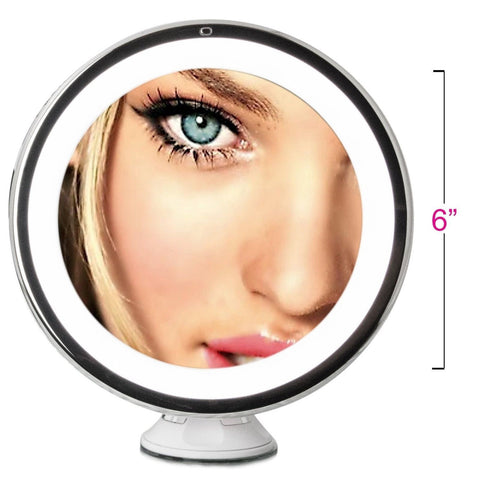 Daylight Led 10x Magnifying Makeup Mirror Lighted Travel