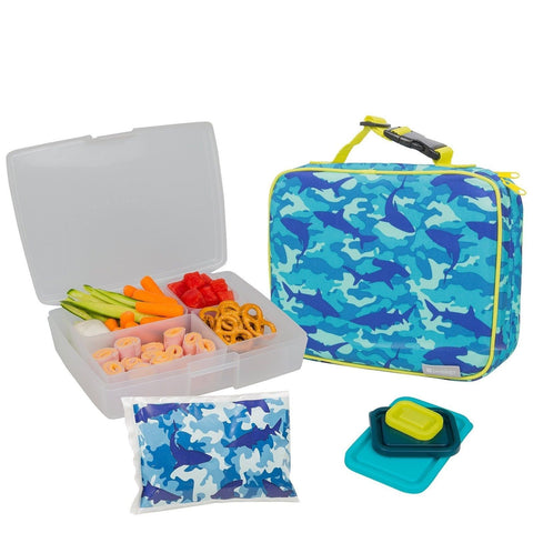 Bentology Lunch Bag and Box Set for Boys - Includes Insulated Sleeve with Han... - Chickadee Solutions - 1
