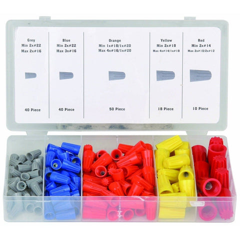 158 Piece Wire Connector Assortment Wire Connectors with Case - Chickadee Solutions - 1