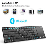 Rii K12BT Ultra Slim Portable Mini Wireless Bluetooth Keyboard With Large Siz... - Chickadee Solutions - 1