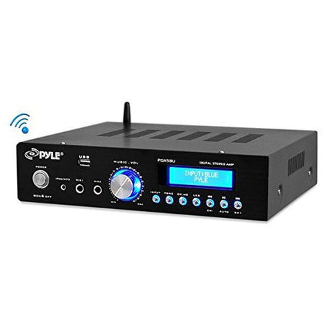 Pyle PDA5BU Bluetooth Stereo Amplifier Compact Amp Receiver AM/FM/USB/AUX 200... - Chickadee Solutions - 1