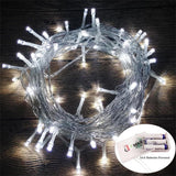 Battery Operated String LED Fairy Lights Outdoor Bright White AMARS 33 Feet G... - Chickadee Solutions - 1