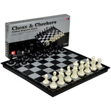 2 in 1 Travel Magnetic Chess and Checkers Set - 14'' - Chickadee Solutions - 1