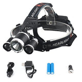 Diateklity Bright LED Headlamp Headlight Flashlight 4 Modes w/ 3 Cree T6 LED ... - Chickadee Solutions - 1