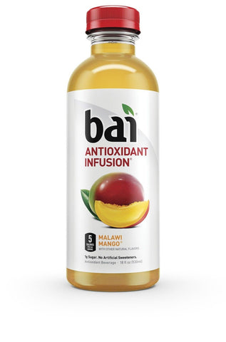 Bai Malawi Mango Antioxidant Infused Beverage 18 Ounce (Pack of 12) - Chickadee Solutions - 1