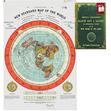 "Flat Earth Map - Gleason's New Standard Map Of The World - Large 24"" x 36"" Hi... - Chickadee Solutions - 1"