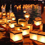 Homecube Outdoor Water Floating Candle Lanterns Biodegradable White Chinese P... - Chickadee Solutions - 1