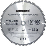 Concord Blades ACB1000T100HP 10-Inch 100 Teeth TCT Non-Ferrous Metal Saw Blade - Chickadee Solutions