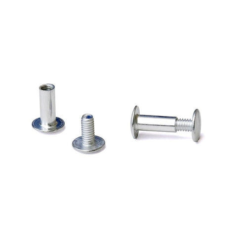 1/2 in. Aluminum Chicago Screws/Screw Posts (Qty 100 sets) - Chickadee Solutions - 1